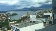 Zeitraffer zeigt Sturmwolke über Sydney