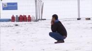 Schnee und Kälte erschweren Lage der Flüchtlinge