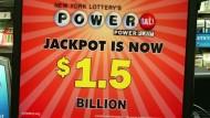 Powerball: Lottospieler in Amerika hoffen auf 1,5 Milliarden Dollar