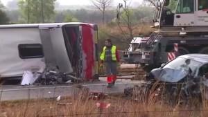 Viele Tote bei Busunglück in Spanien