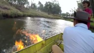 Fluss in Flammen