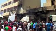 Dutzende Tote bei IS-Selbstmordanschlägen in Bagdad