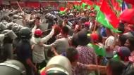 Ausschreitungen bei Protesten in Nepal