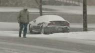 Schneesturm überrascht Amerika