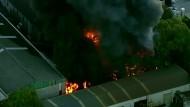Großbrand hält Feuerwehr in Sydney in Atem