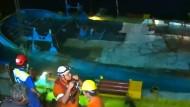 Gesunkenes Flüchtlingsschiff aus dem Mittelmeer geborgen