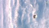 Weltraumtransporter an Raumstation ISS angedockt