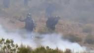 Bolivianische Bergarbeiter protestieren mit Dynamit