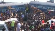 Viele Tote bei Zugunglück in Indien