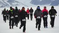 42 Kilometer bei klirrender Kälte
