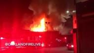Viele Tote nach Brand in Lagerhalle