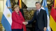 Merkel lobt Öffnungskurs Argentiniens