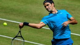 Federer zum zwölften Mal im Finale von Halle