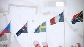 Im Schneetreiben und auf dem Treppchen