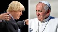 Londons Bürgermeister Boris Johnson und Papst Franziskus