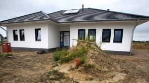 Baustelle eines Einfamilienhauses in Rostock
