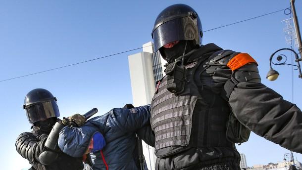 Hunderte Festnahmen in Sibirien