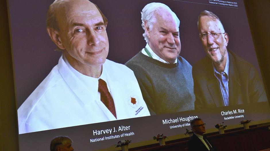 Medizin-Nobelpreis geht an Entdecker von Hepatitis C