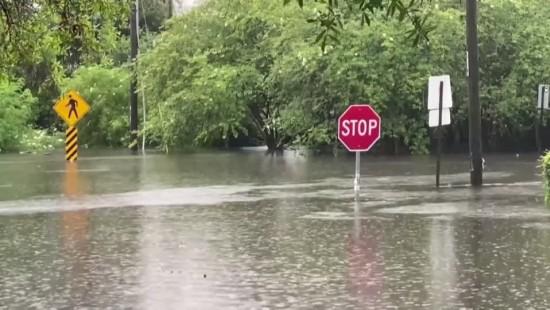 Land unter in Louisiana