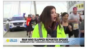 Mann schlägt Reporterin in Livesendung auf den Hintern