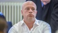 Der suspendierte Oberbürgermeister Joachim Wolbergs im Verhandlungssaal des Landgerichts.