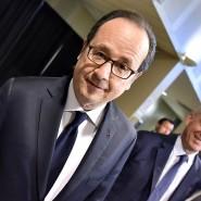 Francois Hollande bei der Stimmabgabe in Tulle am Sonntag