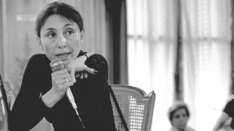 Heiraten durfte sie dort nicht, sie tat es trotzdem: Julia Kristeva 1977 in Paris.