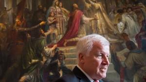 CSU-Chef Seehofer pocht auf Obergrenze