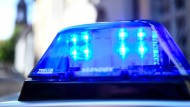 Das Blaulicht eines Polizeiautos (Symbolbild)