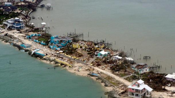 Totale Verwüstung auf den Bahamas