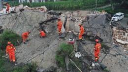 Starkes Erdbeben in China
