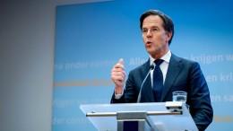 Rutte will Ausgangssperre in den Niederlanden