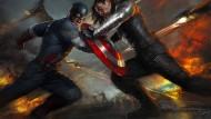 "Chris Evans und Sebastian Stan in dem Film ""Captain America: The Winter Soldier"""