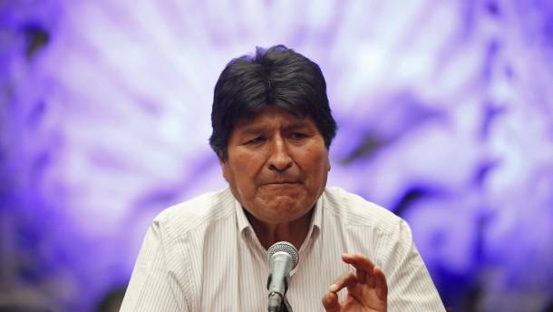 """Morales: """"Ich bin weiterhin Präsident"""""""