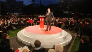 Conférencier im Forum: Peer Steinbrück in Hamburg