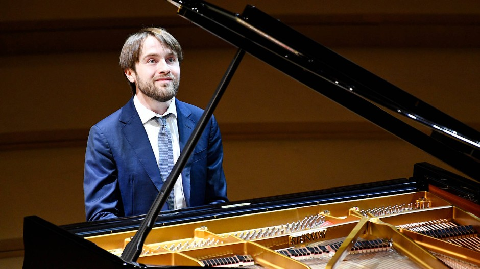 Daniil Trifonov bei einem Konzert in der Moskauer Zaryadye Konzerthalle