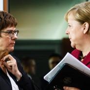 Parteichefin und Kanzlerin: Annegret Kramp-Karrenbauer und Angela Merkel
