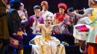 Die Opernsängerin Anja Harteros als Feldmarschallin Fürstin Werdenberg im Festspielhaus Baden-Baden.