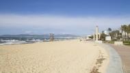 Das Coronavirus sorgt für leere Strände, wie hier in Palma de Mallorca.