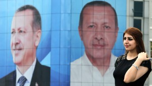Es ist nur noch Erdogan zu sehen