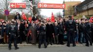 Proteste gegen Yildirim-Rede