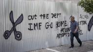 Ein Graffiti in Athen.