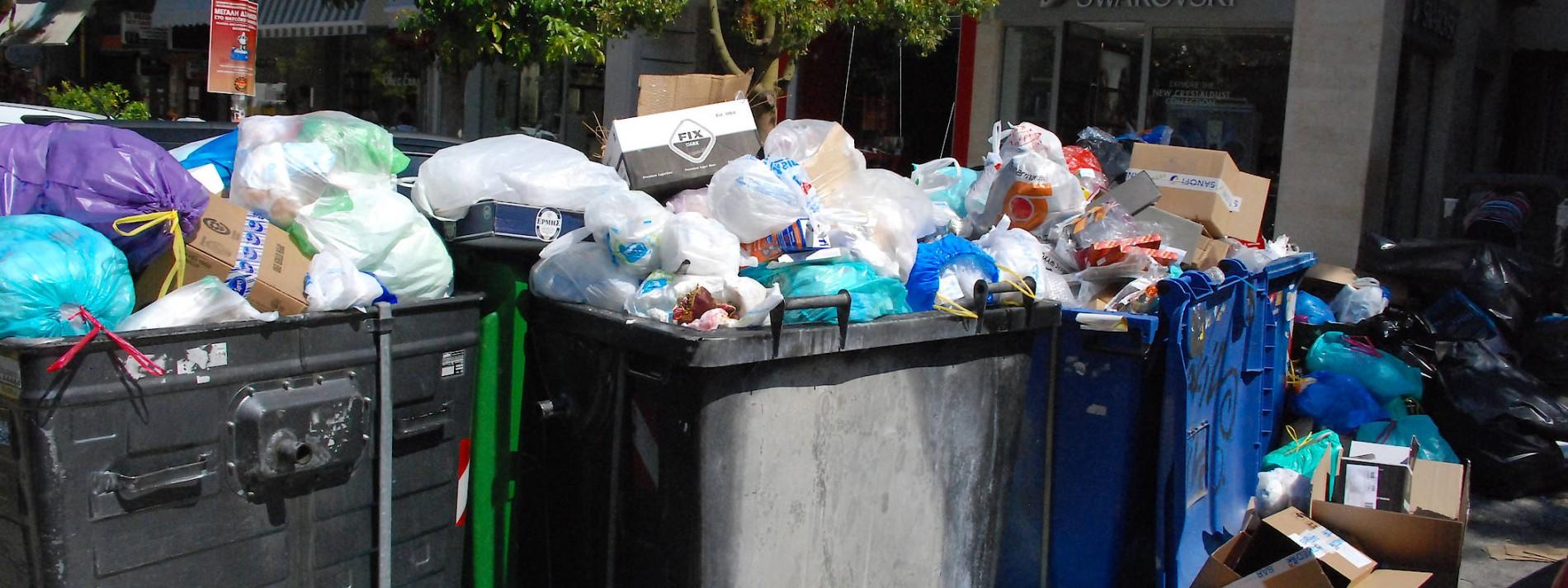 Griechenland versinkt im Abfall