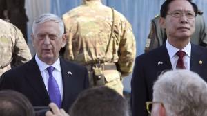 Verteidigungsminister Jim Mattis in Panmunjom in der demilitarisierten Zone zwischen Süd- und Nordkorea