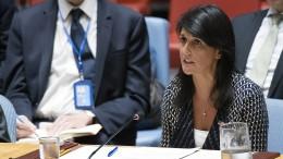 """UN-Botschafterin Haley: """"Die Welt steht vereint gegen Nordkorea"""""""