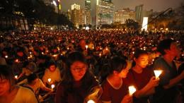 Lichtermeer erinnert an Tiananmen-Massaker