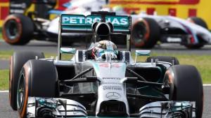 Rosberg auf Pole Position, Hamilton dahinter