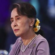 Mit versteinerter Miene sitzt Aung San Suu Kyi am Wochenende beim Asean-Treffen in Sydney.