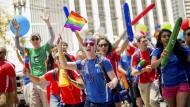 Mitarbeiter von Google und Youtube bei der Gay Pride in San Francisco (Archivbild).