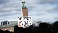 """""""Die Debatte ist vorbei"""", befinden Demonstranten in Stockholm"""